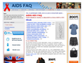 Náhled webu AIDS Help zone