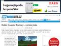 Náhled webu Bonusweb: Roller Coaster Factory
