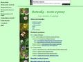 Náhled webu Botanika - teorie a praxe