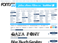 Náhled webu Fonts2u písma zdarma