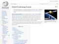 Náhled webu Wikipedie: Global Positioning System