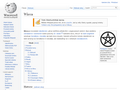 Náhled webu Wikipedie: Wicca