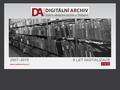 Náhled webu Digitální archív SOA v Třeboni