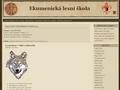 Náhled webu Ekumenická lesní škola