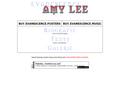 Náhled webu Evanescence Amy Lee