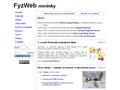 Náhled webu FyzWeb