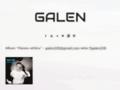 Náhled webu Galen rap hip hop