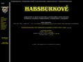 Náhled webu Habsburkové