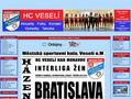Náhled webu HC Veselí nad Moravou