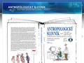 Náhled webu Antropologický slovník