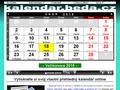 Náhled webu Kalendář