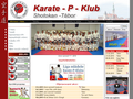 Náhled webu Karate-P-Klub Shotokan Tábor