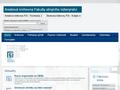 Náhled webu Areálová knihovna FSI VUT v Brně