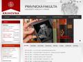 Náhled webu Právnická fakulta UK - knihovna