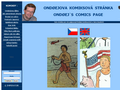 Náhled webu Ondřejova komiksová stránka