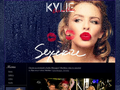 Náhled webu Minogue, Kylie