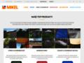 Náhled webu Zakrývací plachty Mikel