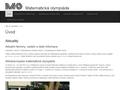 Náhled webu Matematická olympiáda