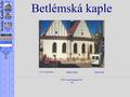 Náhled webu Betlémská kaple