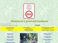 Náhled webu Zkušenosti z pěstování bambusů
