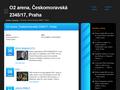 Náhled webu O2 Arena Praha, vstupenky