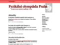 Náhled webu Fyzikální olympiáda Praha