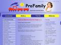 Náhled webu MŠ Pro Family