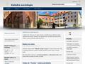 Náhled webu Katedra sociologie Univerzity Karlovy
