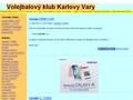 Náhled webu Volejbalový klub Karlovy Vary
