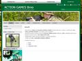 Náhled webu Action Games Brno