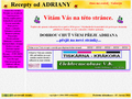 Náhled webu Recepty od Adriany