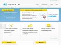 Náhled webu Advantel, a.s.
