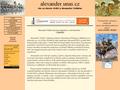 Náhled webu Alexandr Veliký
