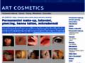 Náhled webu ART cosmetics