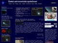 Náhled webu Česká astronomická společnost