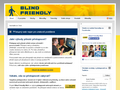 Náhled webu Blind friendly web