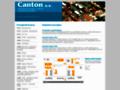 Náhled webu Canton, a. s.