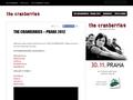 Náhled webu The Cranberries