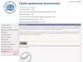 Náhled webu Česká společnost ekonomická (ČSE)
