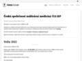 Náhled webu Česká společnost nukleární medicíny