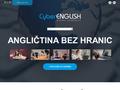 Náhled webu Cyber-English: angličtina bez hranic