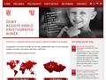 Náhled webu Český registr dárců kostní dřeně