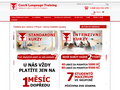 Náhled webu Czech Language Training
