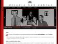 Náhled webu Divadlo bez zábran