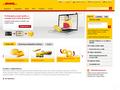 Náhled webu DHL Česká republika