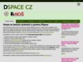 Náhled webu DSpace CZ