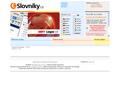 Náhled webu e-Slovníky