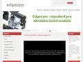 Náhled webu Edgecam standard pro obrábění 3d modelů