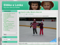 Náhled webu Eliška a Lenka