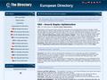 Náhled webu European directory
